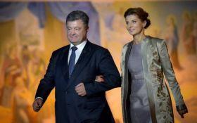 Журналісти з'ясували, скільки Марина Порошенко витратила на вітальний ролик президенту