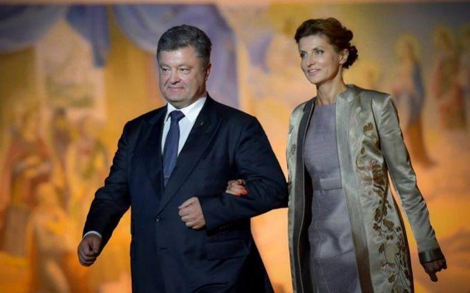 Корреспонденты поведали, сколько Марина Порошенко заплатила запоздравительный ролик мужу