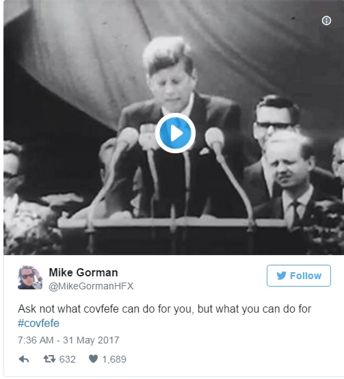 Трамп знову повеселив мережу загадковим повідомленням у Twitter (3)