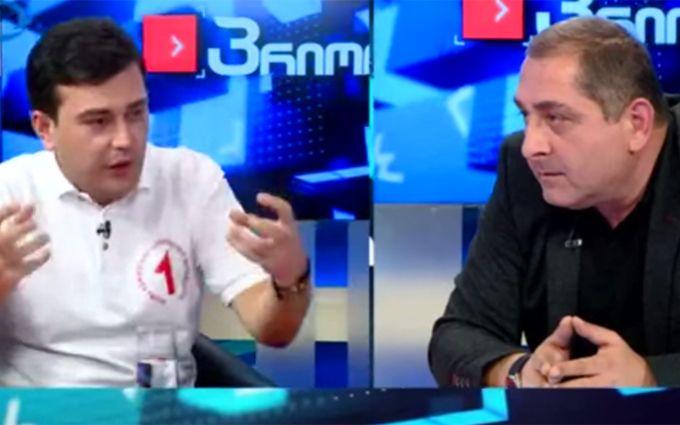 Грузинські політики в прямому ефірі влаштували перестрілку склянками: з'явилося відео