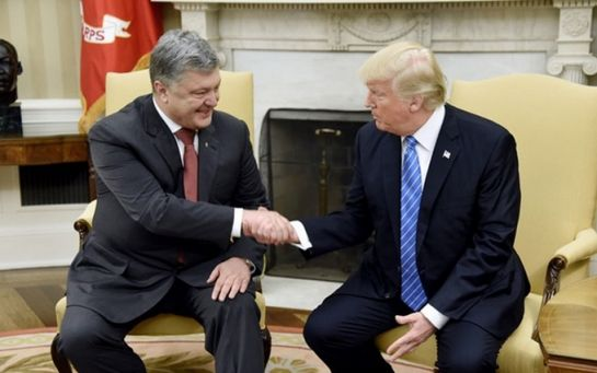 Порошенко и Трамп встретились в США: появилось видео