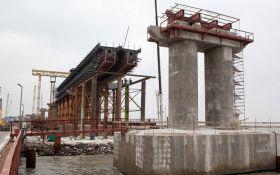 Оккупанты похвастались новыми успехами в строительстве Керченского моста: опубликованы фото и видео