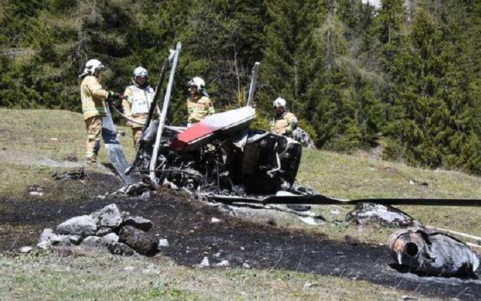 В итоге падения вертолета вАвстрии погибли двое людей