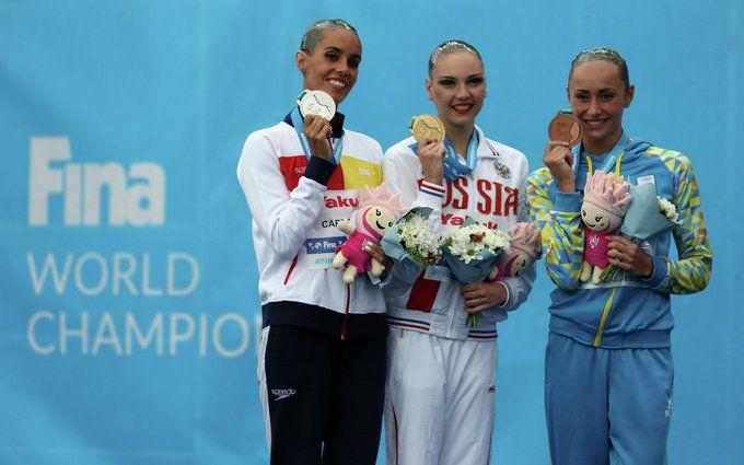 А.Волошина принесла Україні третю медальЧС зводних видів спорту