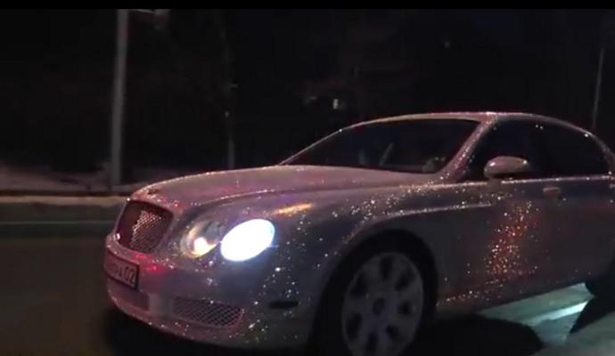 Из-за кризиса жительница Алматы продаёт Bentley в стразах Swarovski