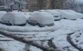 У Києві через сніг стався транспортний колапс