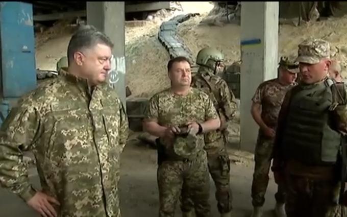 Порошенко на передовій біля Донецька: з'явилося відео
