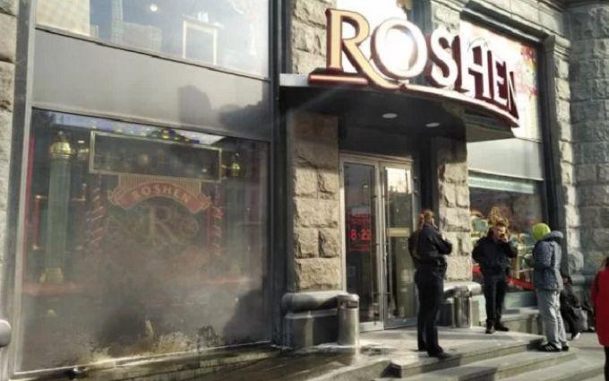 У Києві за добу двічі горів Roshen - опубліковано відео