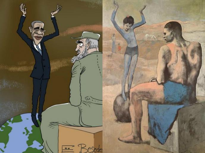 Известный карикатурист нарисовал Обаму в роли девочки (1)