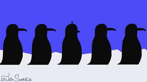 Появилась карикатура на патриарха Кирилла с пингвинами (1)