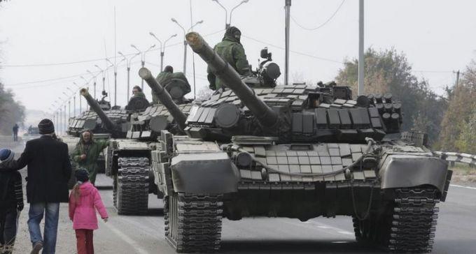 ВКерчи заметили колонну российской бронетехники