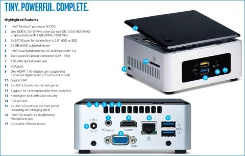 Intel анонсувала перший міні-комп'ютер класу NUC у вигляді повноцінної системи (2)