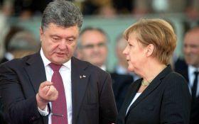 Порошенко проведет переговоры с Меркель в Берлине