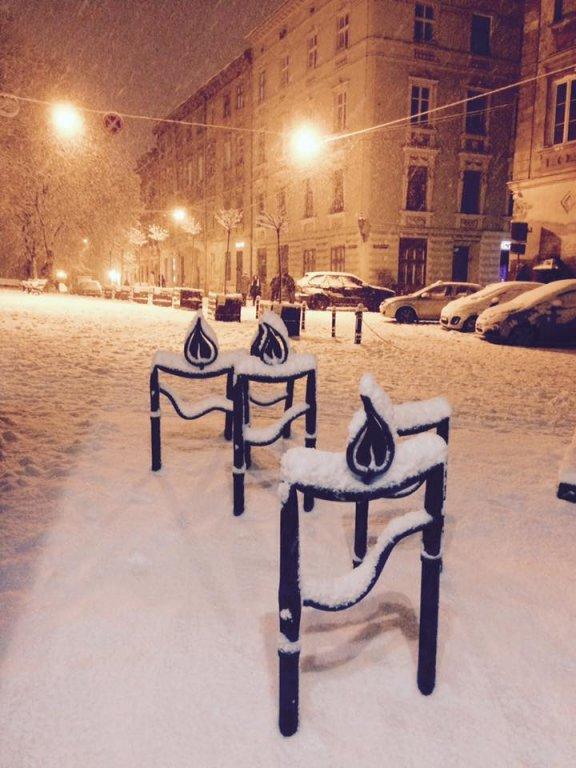 Львов засыпало снегом: в сети публикуют зрелищные фото (4)
