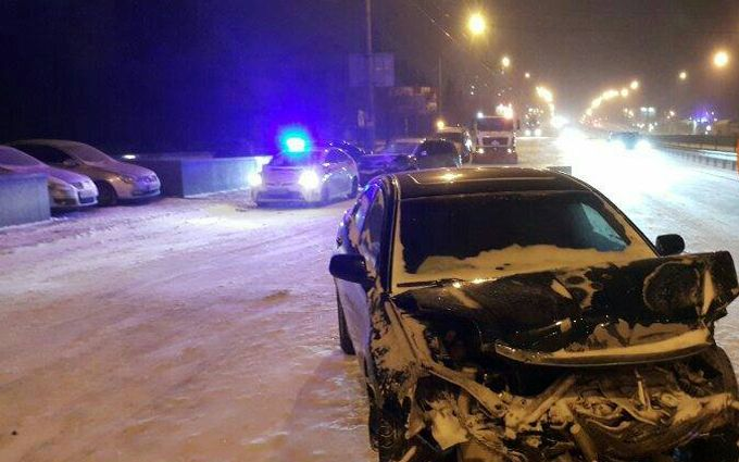 Пьяный виновник аварии в Киеве оказался высоким чином: появилось видео