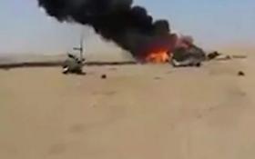 Сбитый в Сирии российский вертолет: появились первые видео