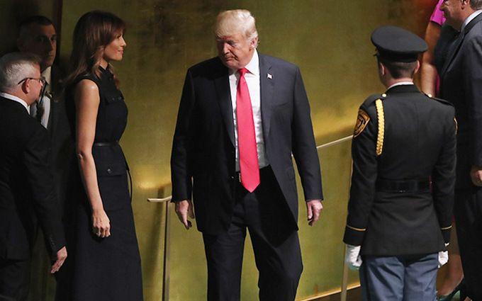 Сукня з підтекстом: наряд Меланії Трамп на Генасамблеї ООН викликав суперечку в соцмережах