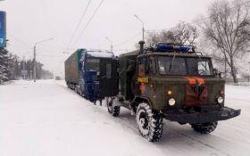 На Донбасі випала рекордна кількість снігу