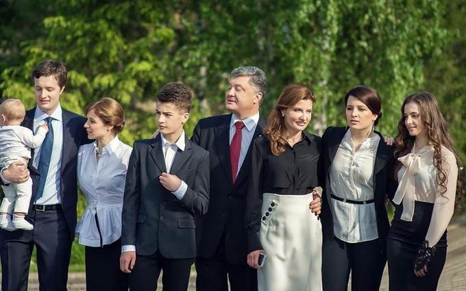 Семья Порошенко оригинально поздравила его с днем рождения