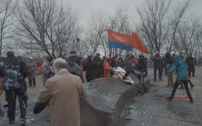 В центре Киева нашли и разогнали сепаратистов: опубликовано видео