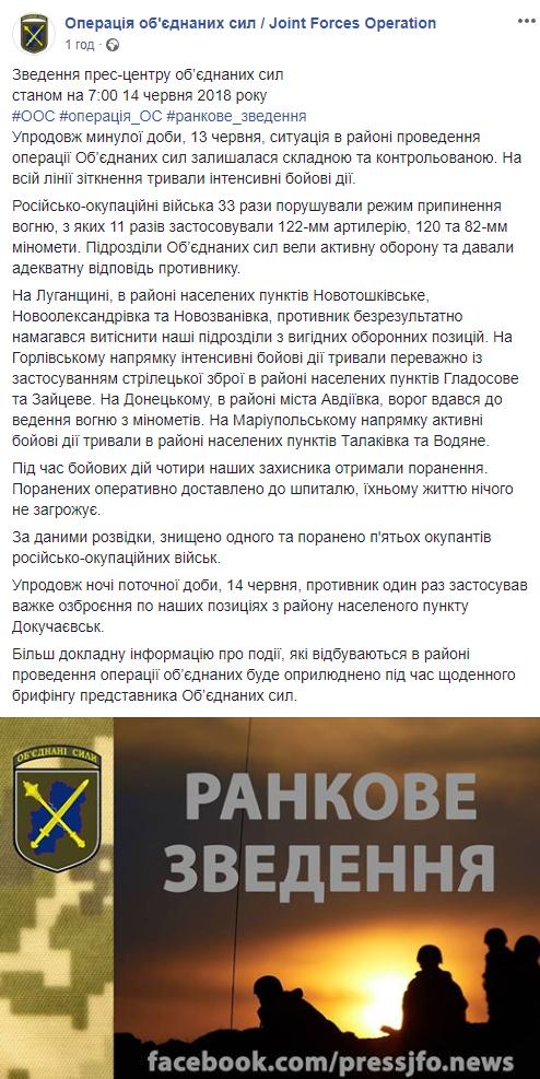 На Донбасі тривають запеклі бої: поранені декілька українських бійців (1)