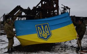 Бойцы АТО спасли флаг Украины под шквальным огнем боевиков: появились фото и видео