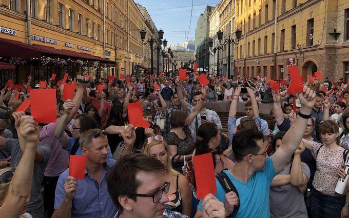 Пенсионная реформа в России: в Москве продолжают задерживать участников пикетов