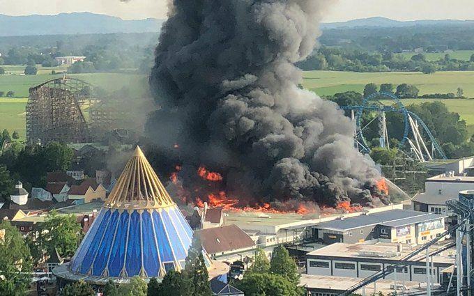 У Німеччині загорівся найбільший парк розваг