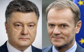 """Порошенко и Туск договорились о проведении саммита """"Украина-ЕС"""" в Киеве"""