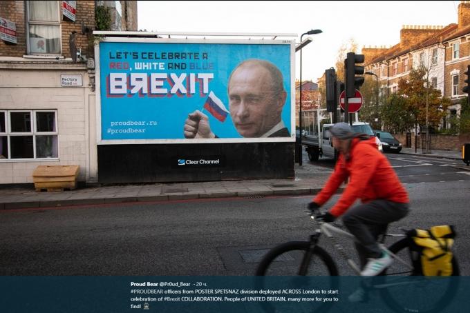 Отпразднуем Brexit: британцев шокировали билборды с Путиным в центре Лондона (1)