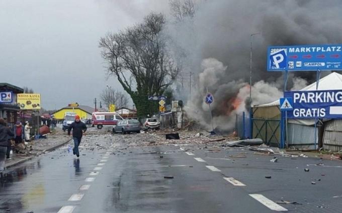 Взрыв на границе Германии и Польши: появилось видео