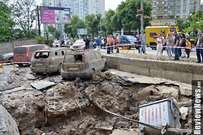 Масштабный прорыв трубы в Киеве произошел из-за испытаний коммунальщиков: опубликованы фото (4)