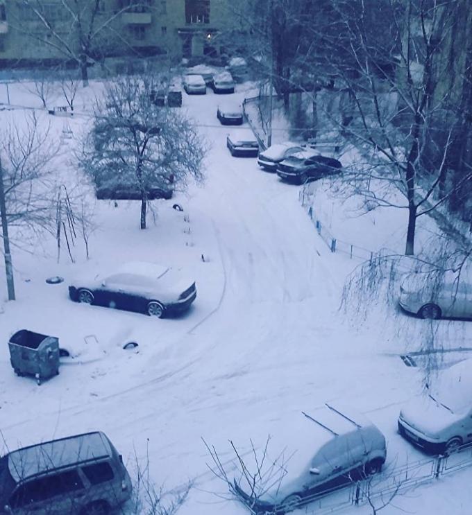 Киев накрыл неожиданный снегопад: в сети публикуют зрелищные фото и видео (3)