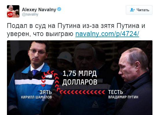 Навальный подал в суд на Путина (1)