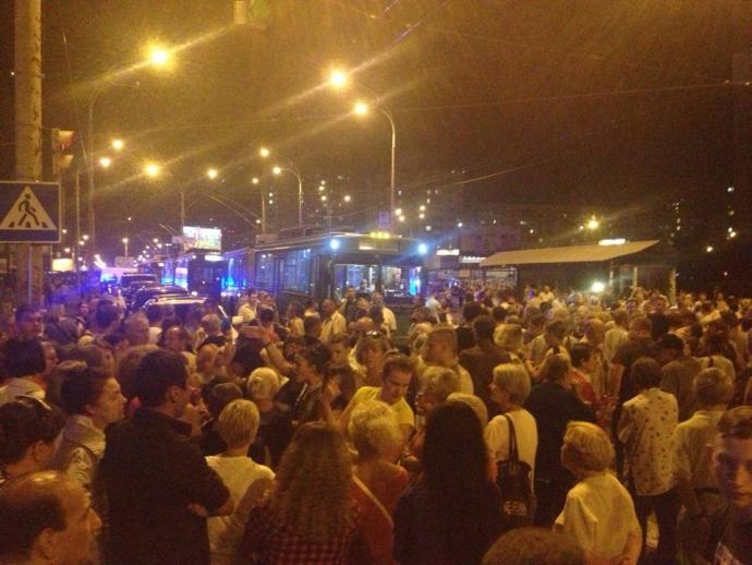 Протести проти скандальної забудови в Києві: з'явилися нові подробиці, відео та фото (1)