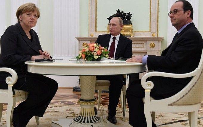 Стало відомо про гучну домовленість Путіна з Меркель і Олландом