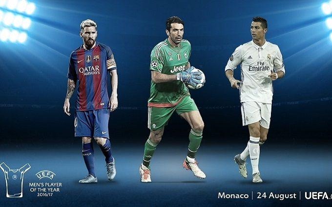 Стали известны три претендента на звание лучшего футболиста Европы