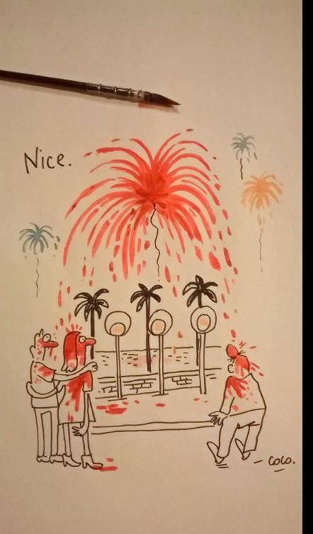 Художниця скандального журналу зробила карикатуру на теракт в Ніцці: з'явилося фото (1)