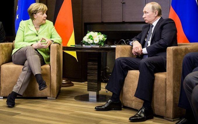 Вэти мин. Путин иМеркель проводят переговоры
