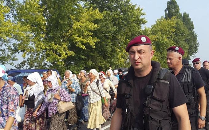 З'явилося відео нелагідної зустрічі хресної ходи у Борисполі