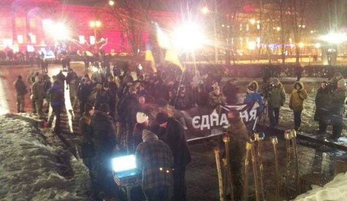 «Шествие единения» в Киеве прошло без факелов