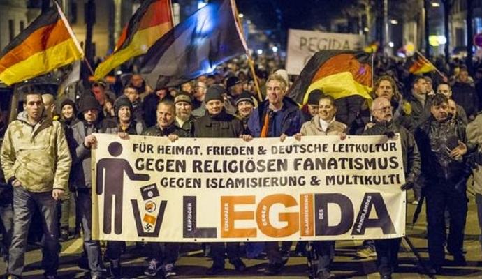 Сотни человек были арестованы во время митинга в Лейпциге