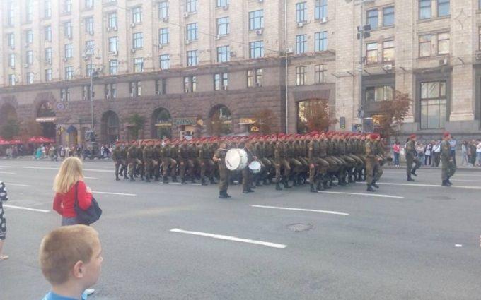 Репетиція військового параду в Києві: з'явилося відео