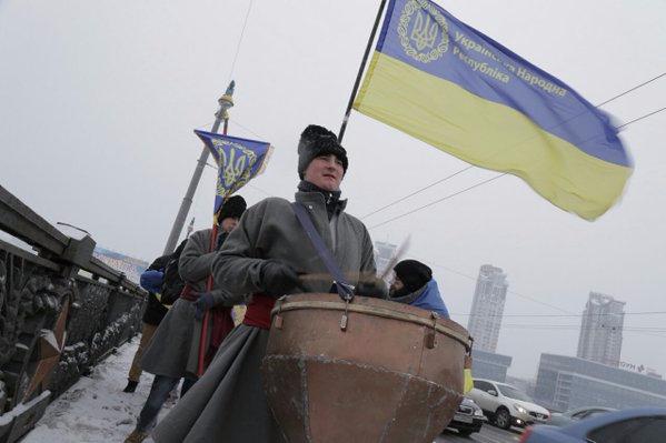 На День Соборности киевляне образовали
