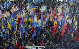 Марш в центрі Києва: з'явилося нове вражаюче відео