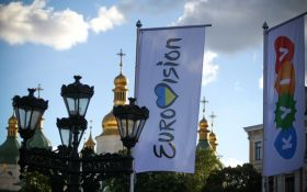 В Киеве установили логотип Евровидения: появились фото