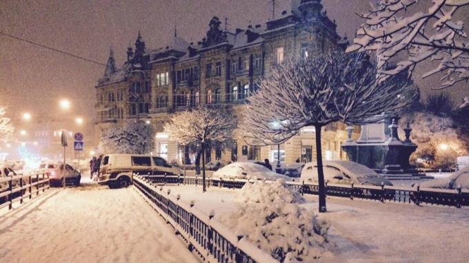Львов засыпало снегом: в сети публикуют зрелищные фото (9)