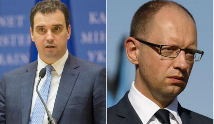 Яценюк и Абромавичус обсудили продолжение экономических реформ
