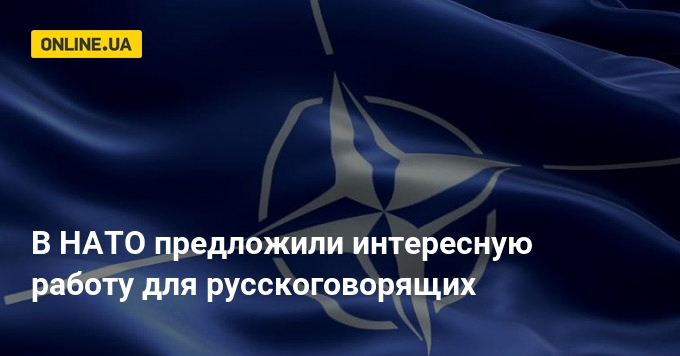 Новини світу - У НАТО запропонували цікаву роботу для російськомовних  47b700af68629