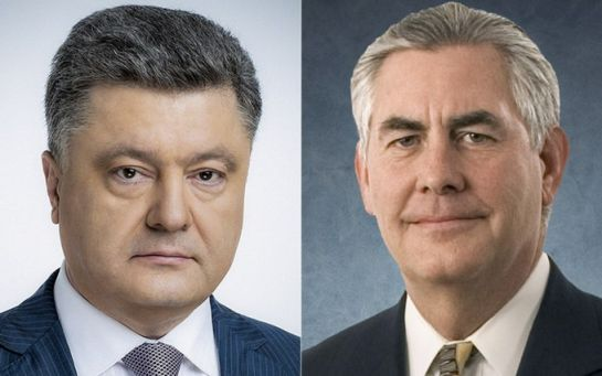 Підрив авто ОБСЄ: Порошенко запропонував Тіллерсону активізувати розгляд питання розміщення на Донбасі миротворців ООН